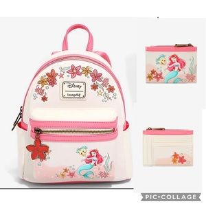 Loungefly  Little Mermaid  backpack & cardholder